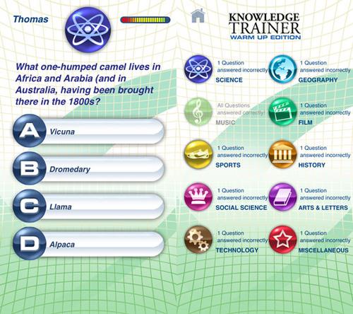Immagine del gioco Knowledge Trainer per iPhone e iPad