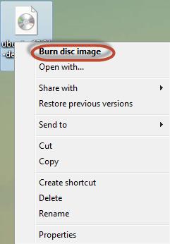 Finestra di Windows che si apre cliccando con il tasto destro sui file ISO e IMG