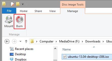 Immagine del menu explorer di Windows 8