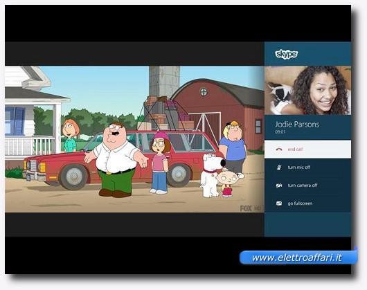 Immagine della Live TV e di Skype sulla Xbox One