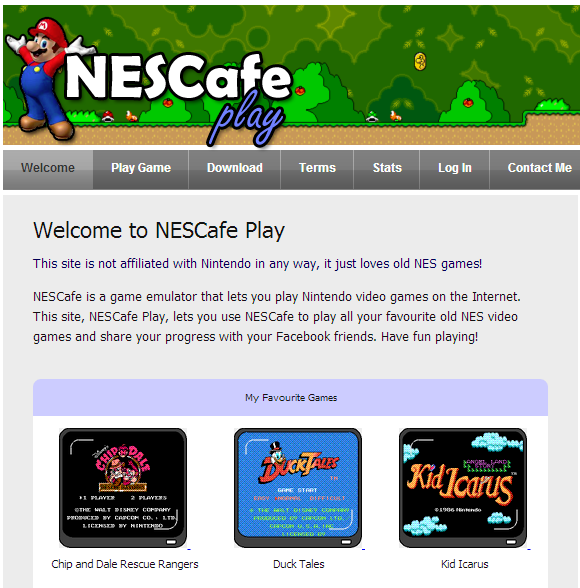 Immagine del sito NESCafe Play