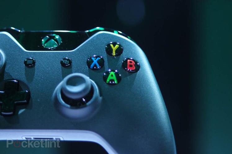 Foto dei dettagli del controller della Xbox One