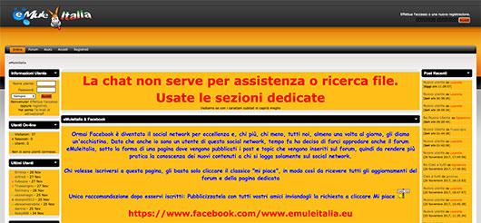 Immagine del sito Emuleitalia