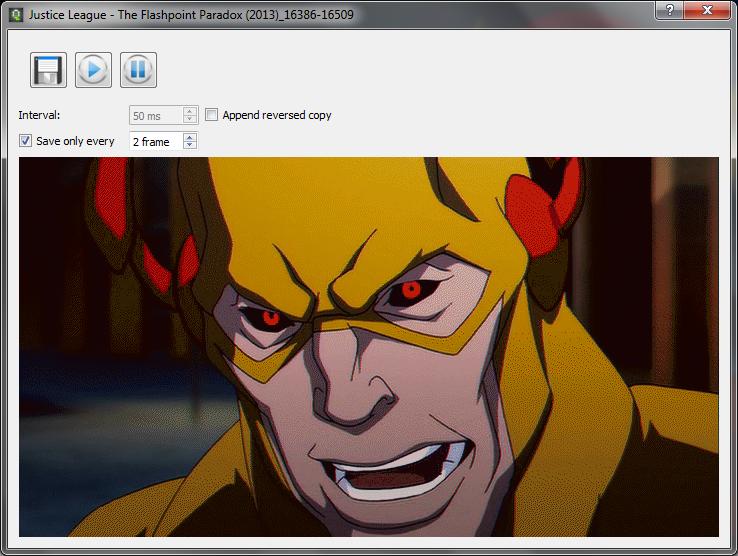 Schermata finale della creazione della GIF animata