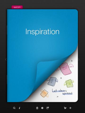 Immagine dell'applicazione Bamboo Paper per iPad