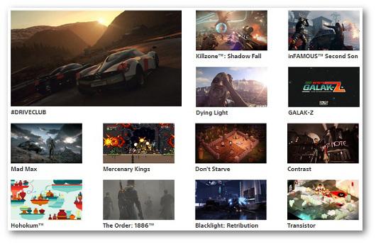 Immagine di alcuni giochi della PS4