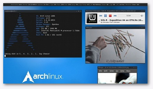 Interfaccia grafica di Arch Linux