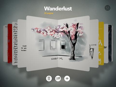 Immagine dell'applicazione Paper by FiftyThree per iPad