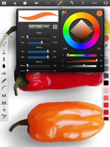 Immagine dell'applicazione SketchBook Pro per iPad