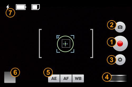 Interfaccia dell'applicazione Videon per iPhone