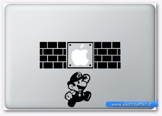 Immagine dell'adesivo Mario Bros. per MacBook
