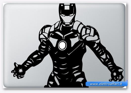 Immagine dell'adesivo Iron Man 3 per MacBook