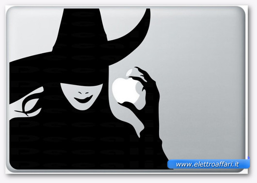 Immagine dell'adesivo La strega per MacBook