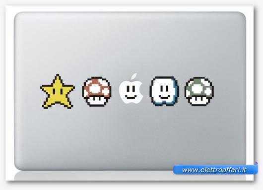 Immagine dell'adesivo Mario per MacBook