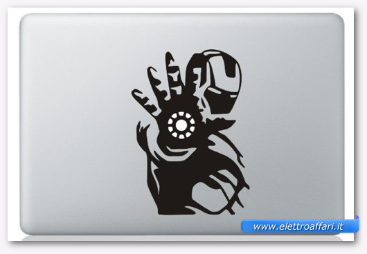 Immagine dell'adesivo Iron Man per MacBook