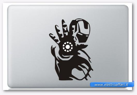 Immagine dell'adesivo Iron Man per MacBook