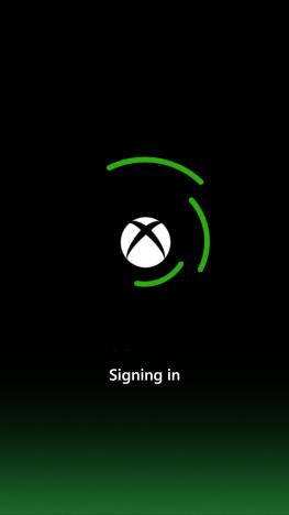 Schermata di SmartGlass di connessione all'Xbox 360