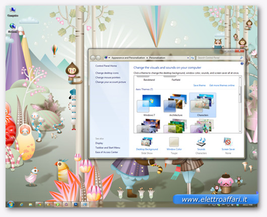 Immagine del tema Aero Characters di Windows 7