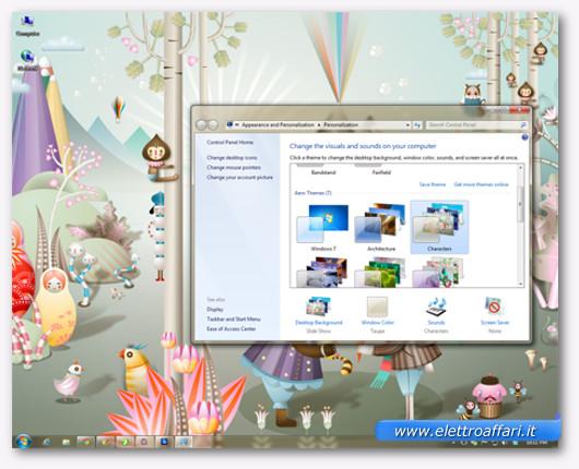 Immagine del tema Aero Characters di Windows 7