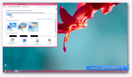Immagine del tema Fiori di Windows 8