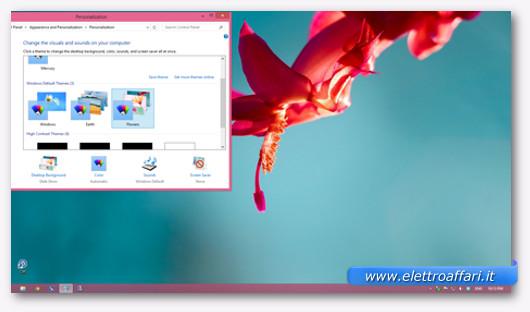 Immagine del tema Fiori di Windows 8