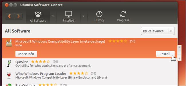 Schermata di Ubuntu Software Center
