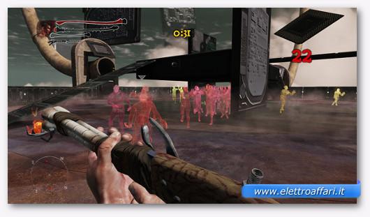 Immagine di un videogioco su TV