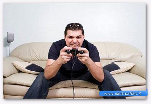Immagine di una ragazzo che gioca ad un videogioco