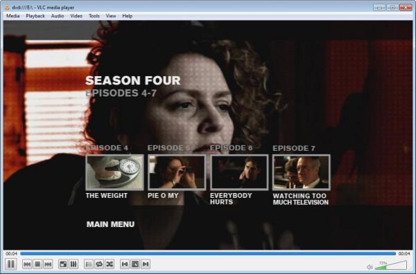 Schermata del programma VLC