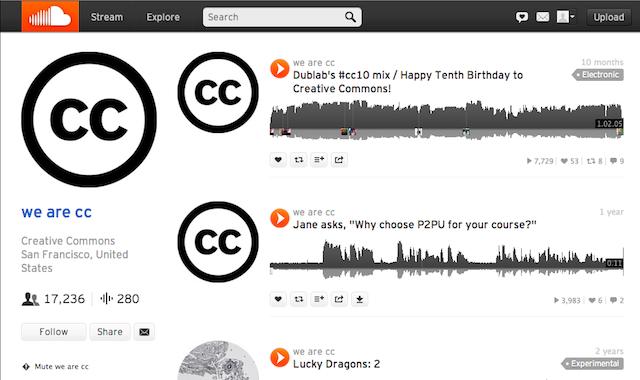 Immagine del sito SoundCloud