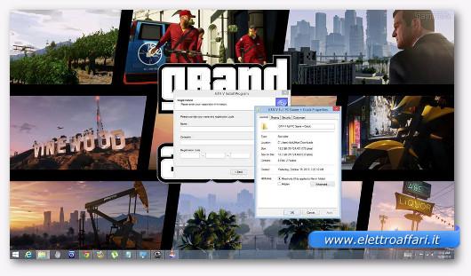Finta schermata di installazione di GTA 5