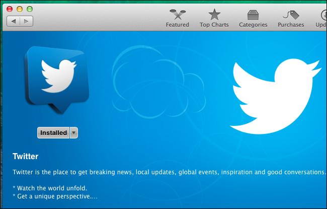 Schermata del Mac App Store
