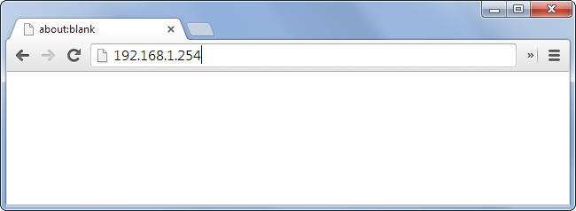 Schermata di accesso al router tramite browser