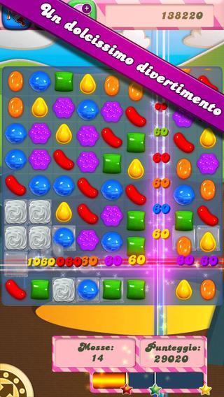 Schermata del gioco Candy Crush Saga per iPad