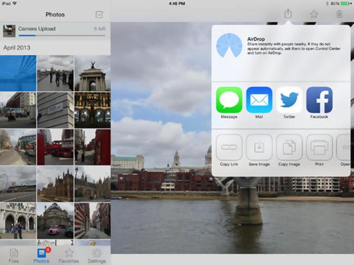 Immagine sulle applicazioni cloud per iPad Air