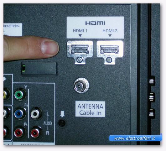 Immagine di due connessioni HDMI