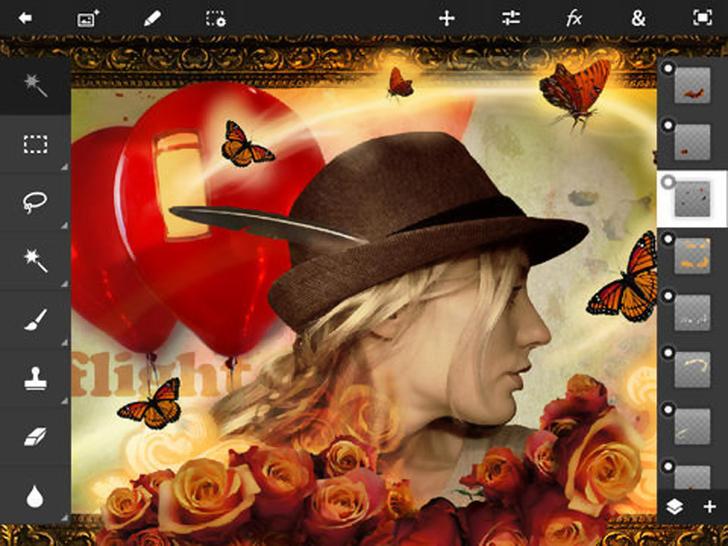 Immagine sulle applicazioni di foto editing per iPad Air