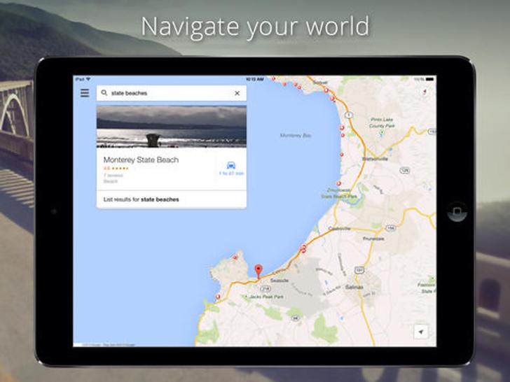 Immagine sulle applicazioni Google per iPad Air