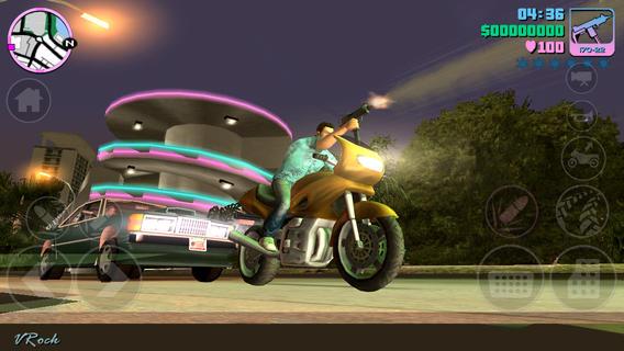 Schermata del gioco GTA Vice City per iPad