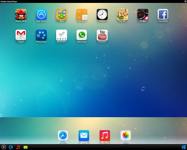 Schermata del simulatore iPadian su Windows