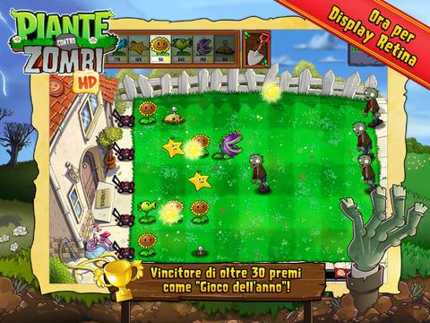 Schermata del gioco Piante contro Zombi HD per iPad