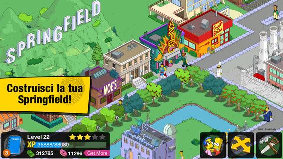 Schermata del gioco I Simpson per iPad
