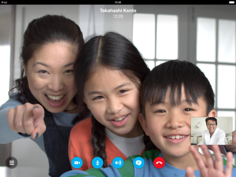 Schermata dell'applicazione Skype per iPad