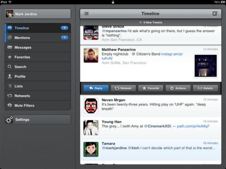 Immagine sulle applicazioni dei social network per iPad Air
