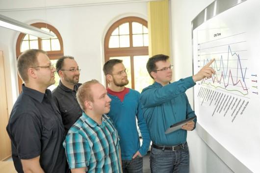 Foto di alcuni studiosi di AV-Test nei loro laboratori