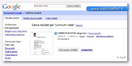 Modelli Di Curriculum Vitae Da Compilare Online