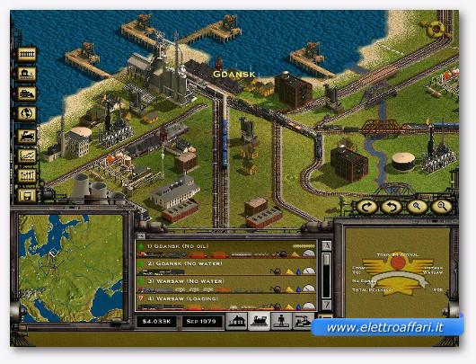 Immagine del gioco di treni Railroad Tycoon 2