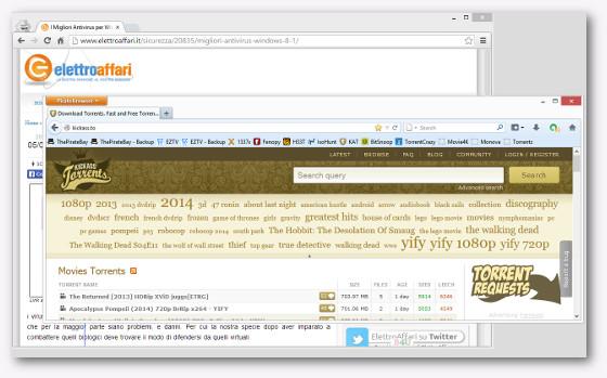 Immagine del sito Kickass Torrents