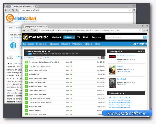 Immagine del sito Metacritic
