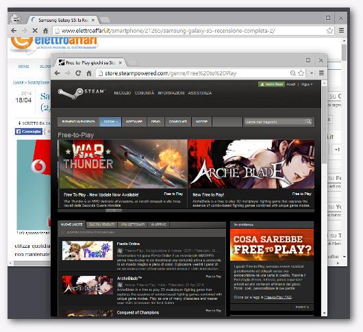 Immagine del sito Steam per scaricare giochi gratis
